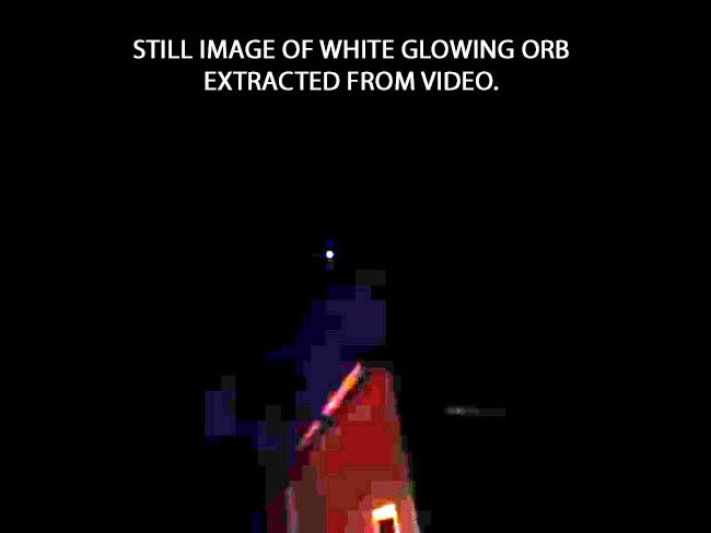 Very Bright White Spinning Glowing Orb.