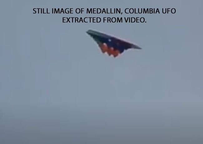 UFO Sighted Over Medellín, Colombia ( July 25, 2021 ).