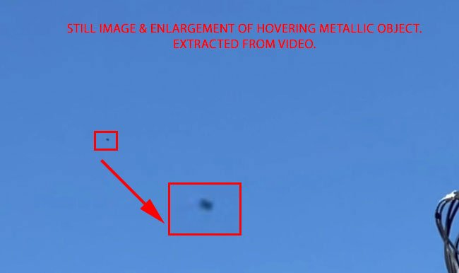 Video Taken of Hovering Bright, Metallic, Flashing Object.