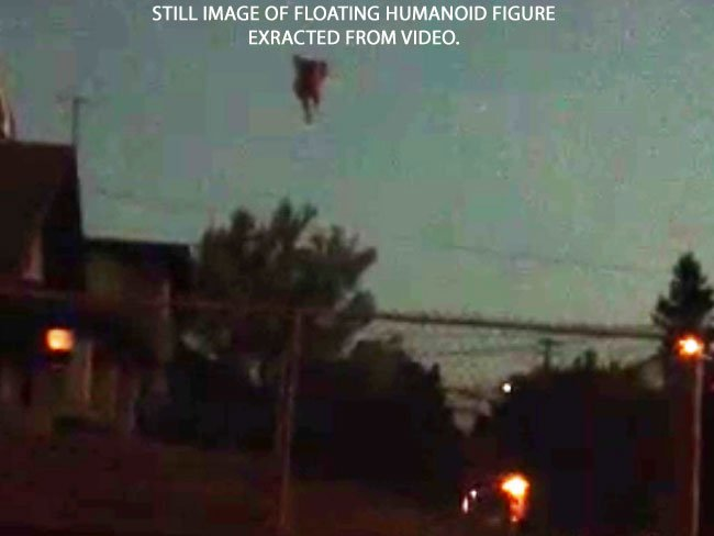 Floating Humanoid Figure in the Sky.