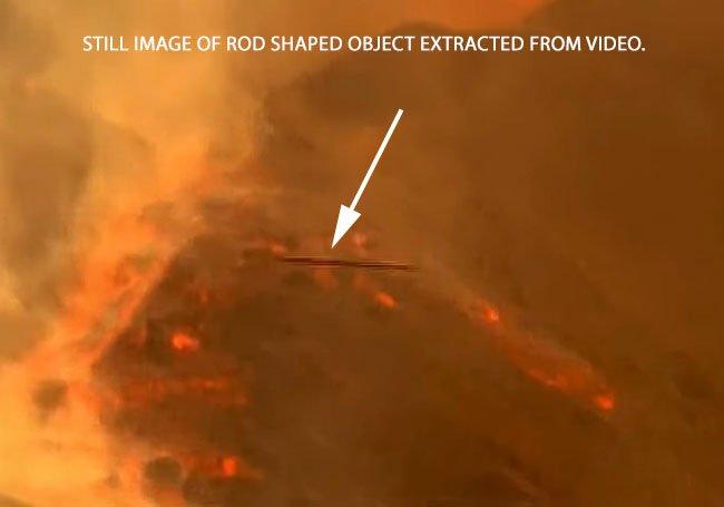 Rod Shaped Objects Appear in Video of Las Palmas Volcano.
