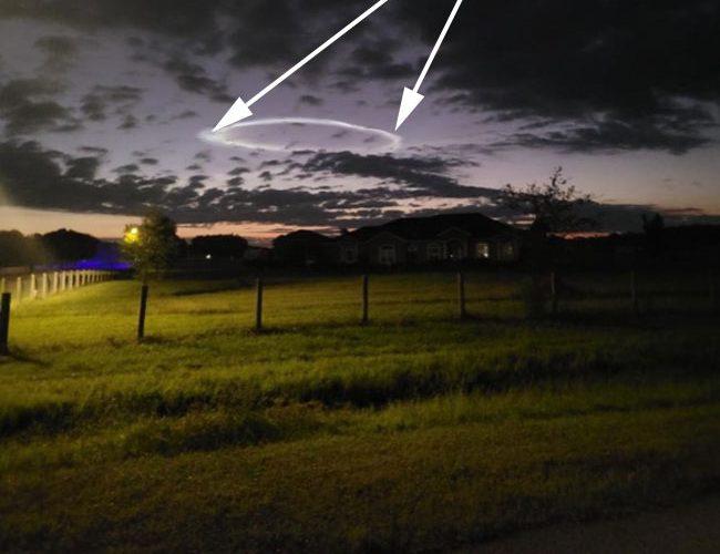 Strange Ring Photographed in Sky Over Lithia, FL.